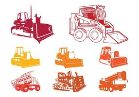 Construction Equipment Silhouettes
