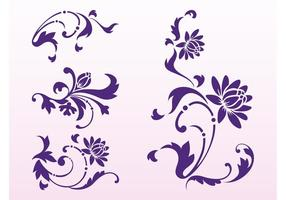 Floral Scrolls Silhouettes