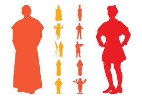 Retro-people-silhouettes-pack