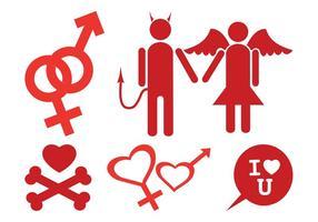 Conjunto de iconos de amor