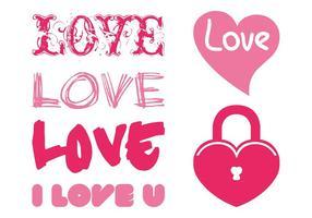 Conjunto de gráficos románticos