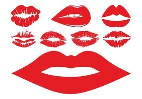 Ensemble de lèvres et de bisous