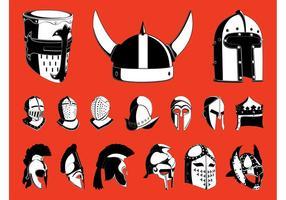 Ensemble casques de guerre