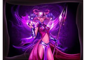 Magisches Fantasie-Mädchen