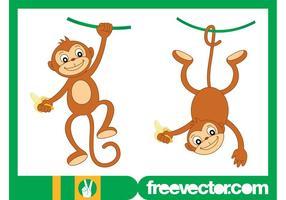 Personnages de monkey heureux