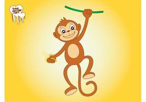 Monkey-with-banana-graphics