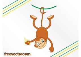 Cartoon-monkey-with-banana