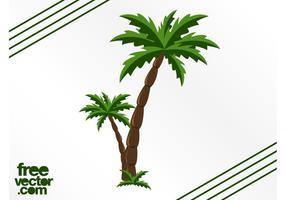 Grafieken van palmbomen