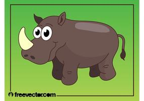 Happy Cartoon Rhino