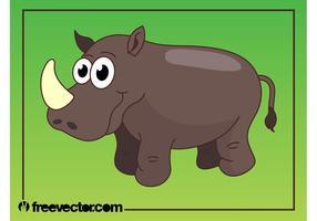Happy Cartoon Rhino