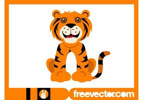 Happy Cartoon Tiger