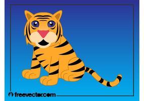 Karikatur-Tiger-Bild