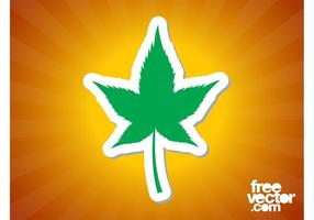Marijuana Leaf Sticker