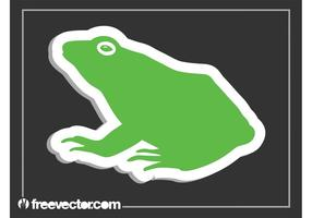 Kikker Sticker Vector