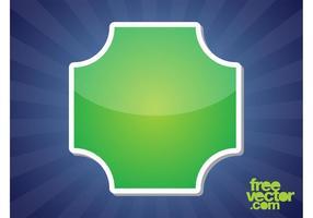 Modèle d'autocollant vert