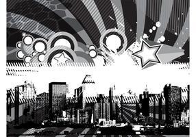 Grunge stedelijk achtergrondontwerp