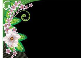 Dark Floral Background