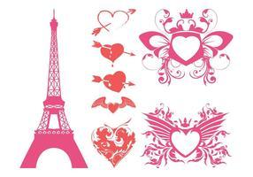 Romantic Hearts Vector