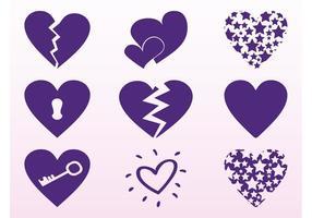 Purple Hearts Set
