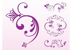 Floral Scroll Set