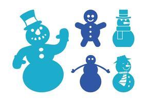 Silhouettes de bonhommes de neige