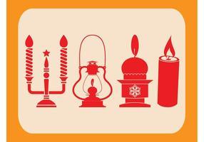 Lanternas e velas de natal