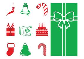 Christmas Objects Silhouettes