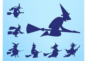 Flying Witches Silhouettes