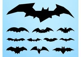 Ilustrações de bat silhouettes