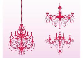 Silhouettes de chandeliers anciens