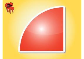 Graphique autocollant rouge