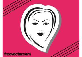 Weibliche Gesichts-Grafik