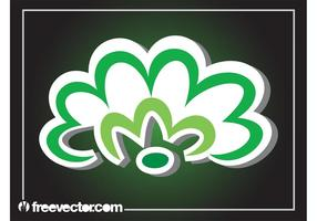 Green Flower Sticker