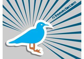 Sticker van de Zeemeeuw