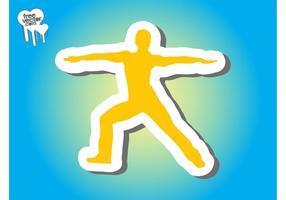 Workout-klistermärke