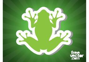 Frosch Aufkleber Bild