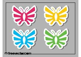 Fjärilsklistermärkear