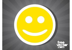Smiley gezicht sticker
