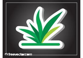 Plantaardige sticker