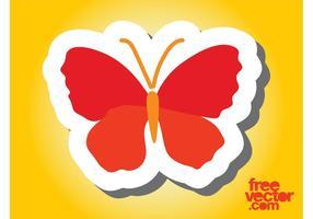 Projeto da etiqueta da borboleta