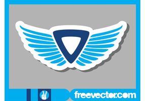 Klistermärke med vingar