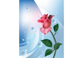 Rose achtergrond sjabloon