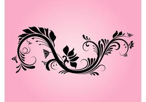 Dekorativer Blumenstrudel
