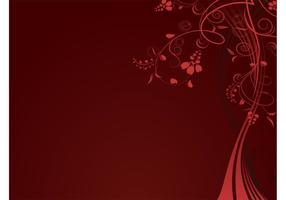 Red Floral Background Template
