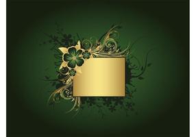 Fond vert et or