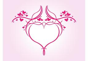 Romantisk hjärtegrafik