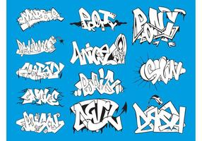 Jeu de graphiques graffiti