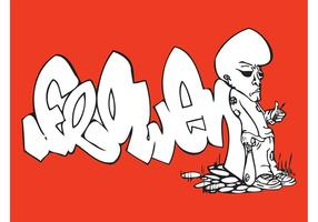 Rare man graffiti
