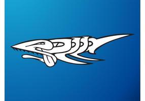 Peça de graffiti de tubarão