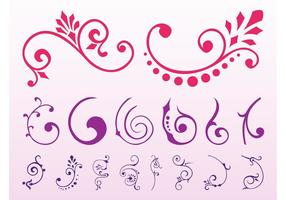 Floral Scrolls Graphics Set